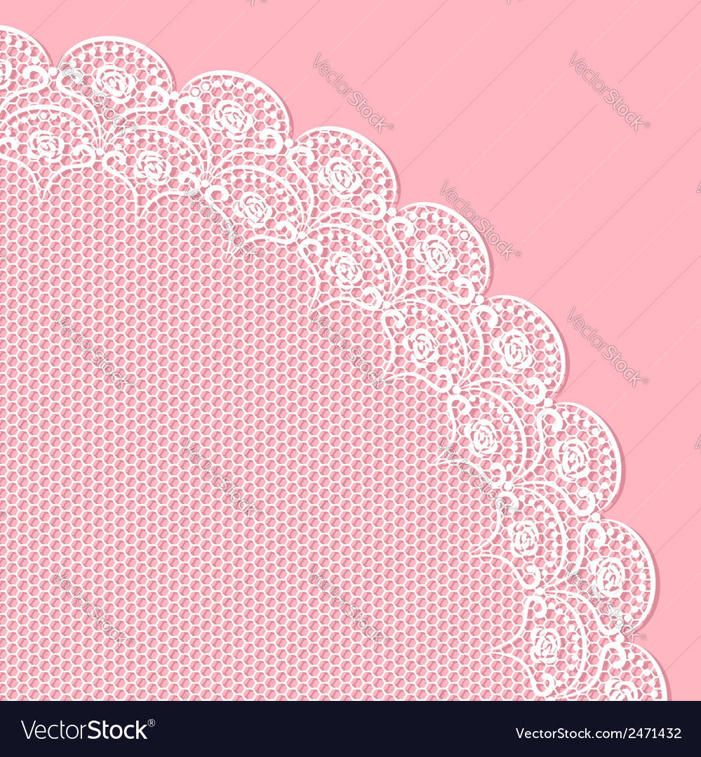 Decorative lacy corner vector | Price: 1 Credit (USD $1)