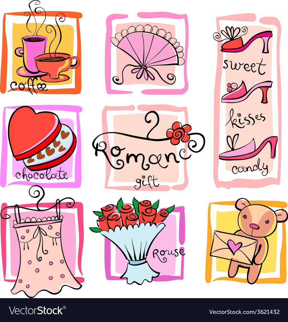 Gift ideas for girl vector | Price: 1 Credit (USD $1)