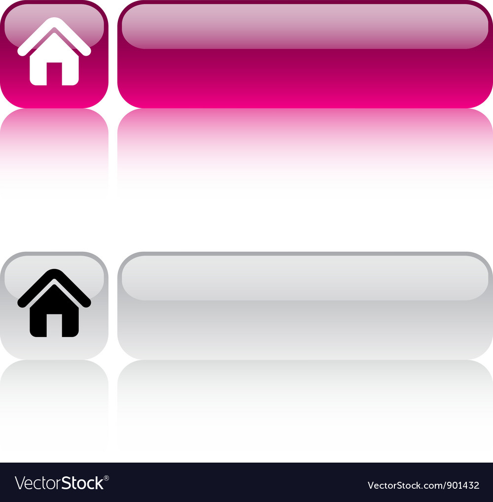 Home square button vector | Price: 1 Credit (USD $1)