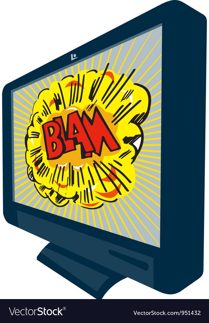Lcd plasma tv television blam vector | Price: 1 Credit (USD $1)