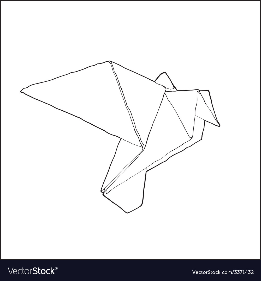 Origamibird vector | Price: 1 Credit (USD $1)