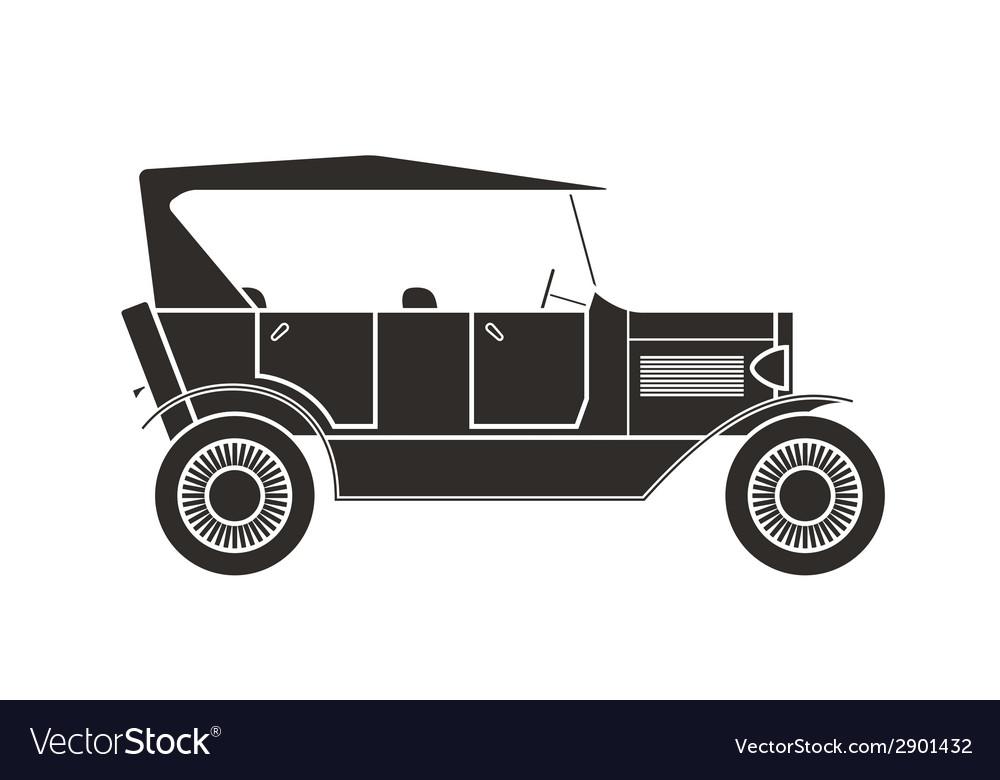 Retro cabriolet car vintage collection vector | Price: 1 Credit (USD $1)
