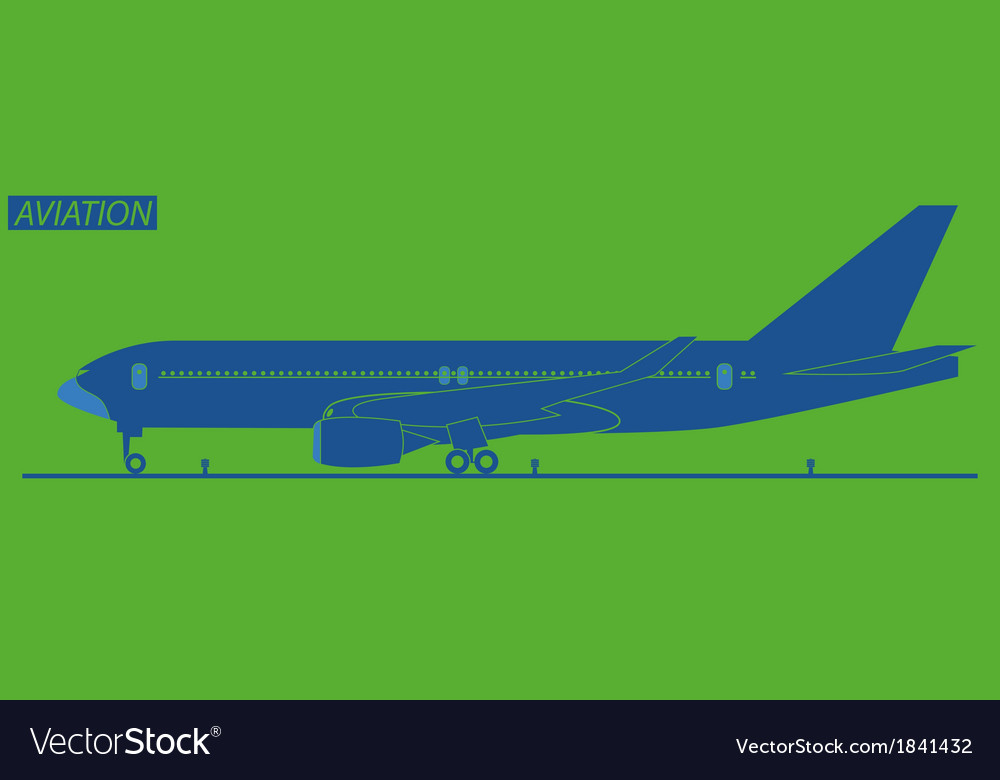 Silhouette of plane vector | Price: 1 Credit (USD $1)