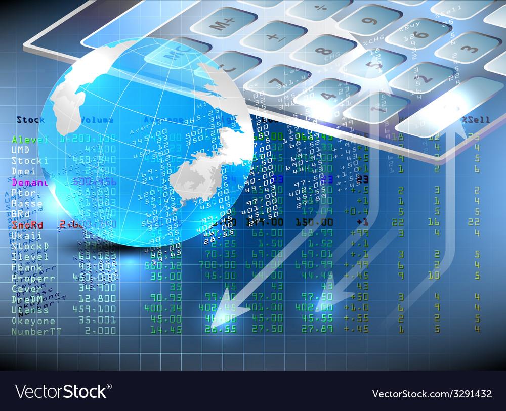Stock exchange analysis vector   Price: 1 Credit (USD $1)