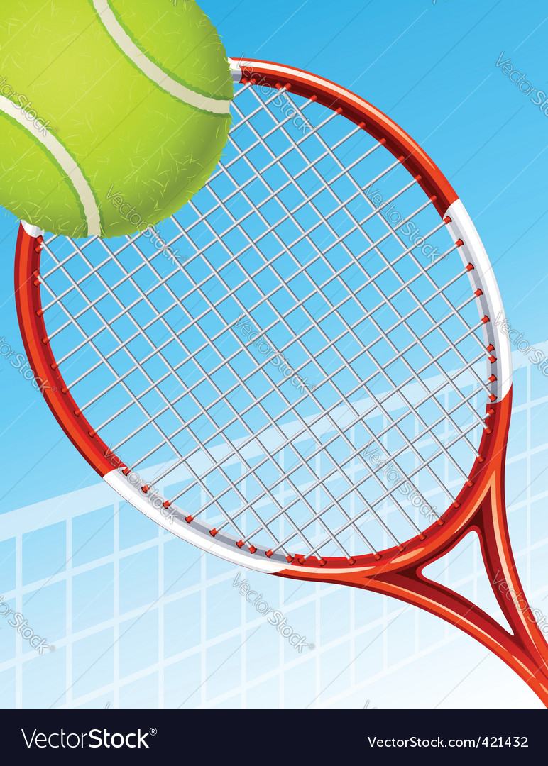 Tennis background vector | Price: 1 Credit (USD $1)