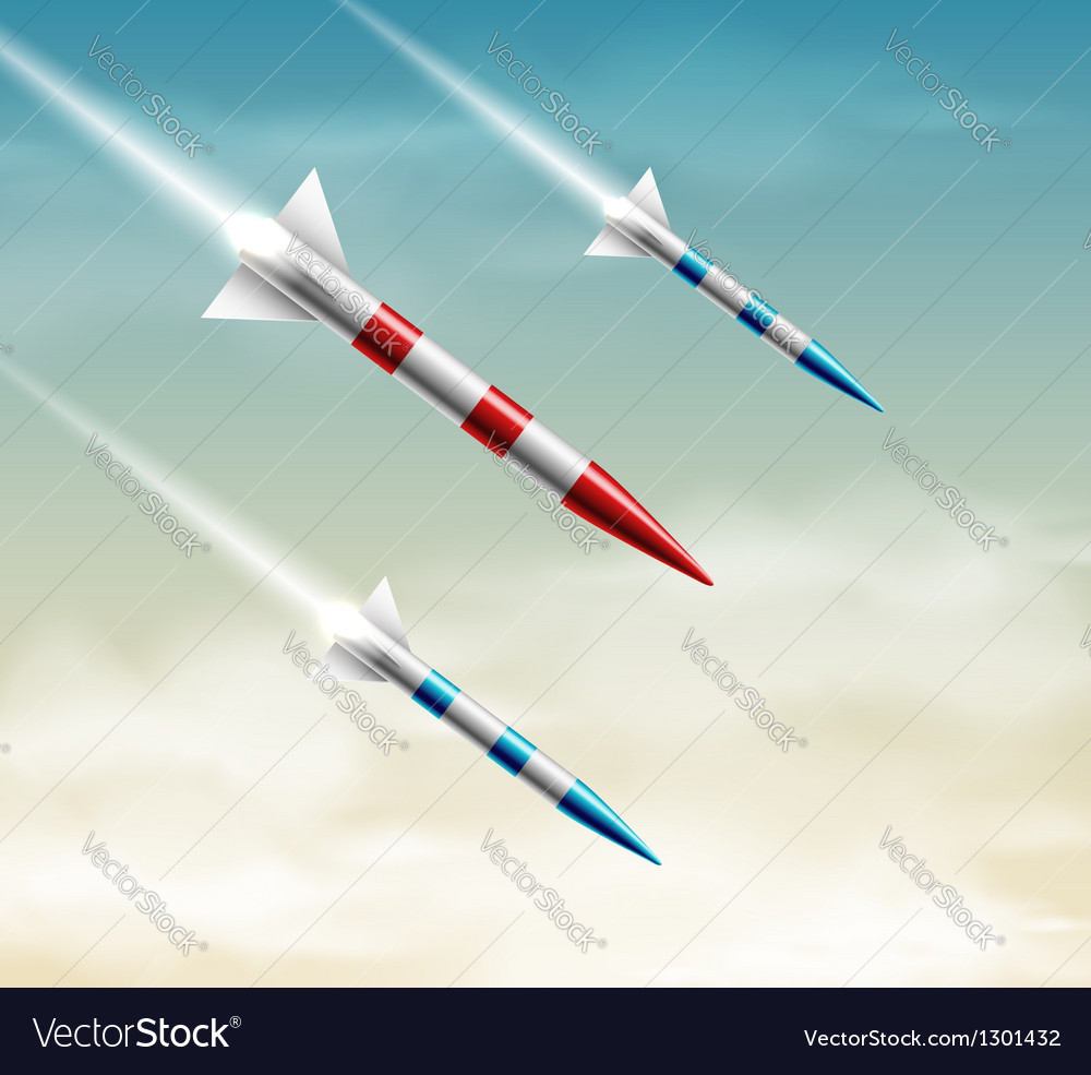 Three rockets vector | Price: 3 Credit (USD $3)