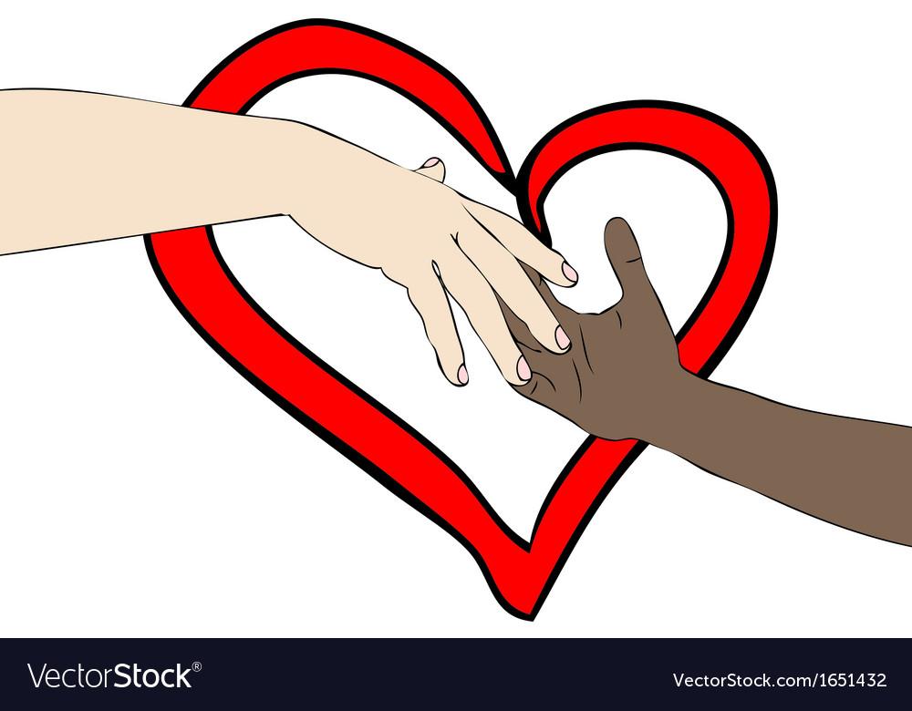 Unite against racism vector | Price: 1 Credit (USD $1)