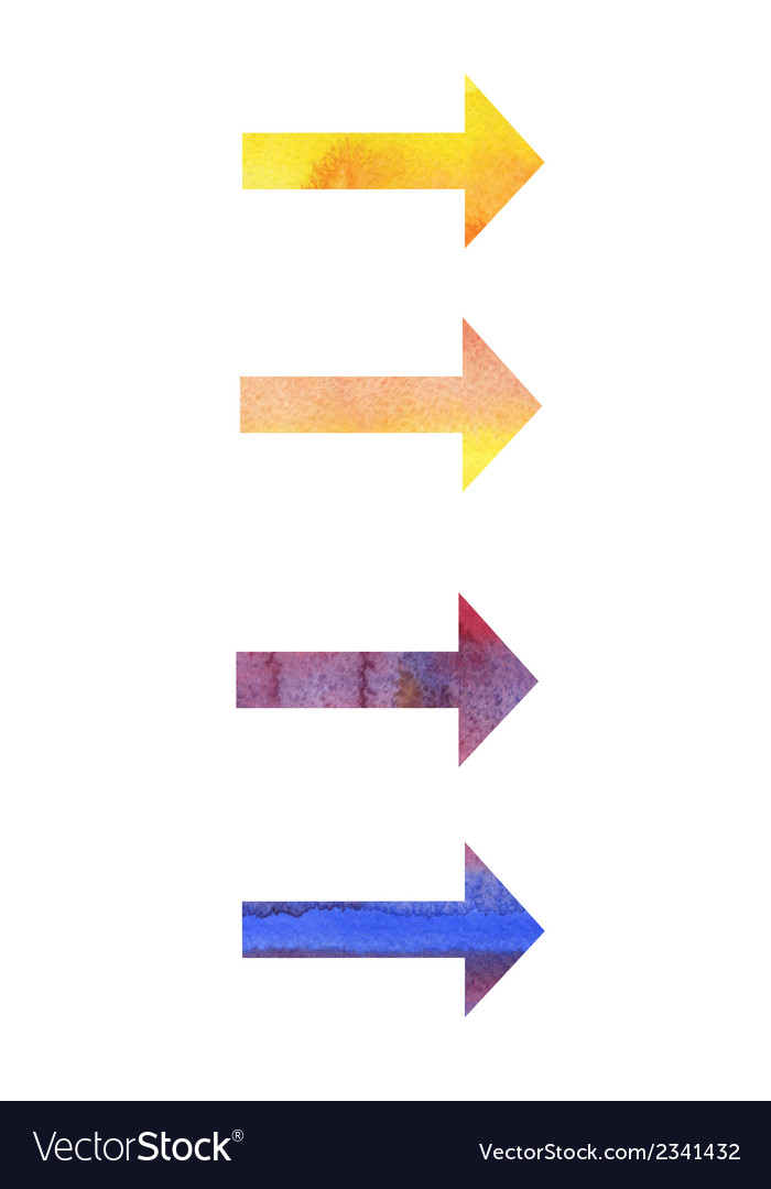 Watercolor arrows vector | Price: 1 Credit (USD $1)