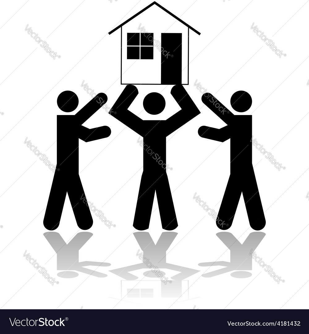 Winning a house vector | Price: 1 Credit (USD $1)