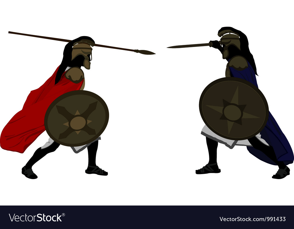 Achilles and hector vector | Price: 1 Credit (USD $1)
