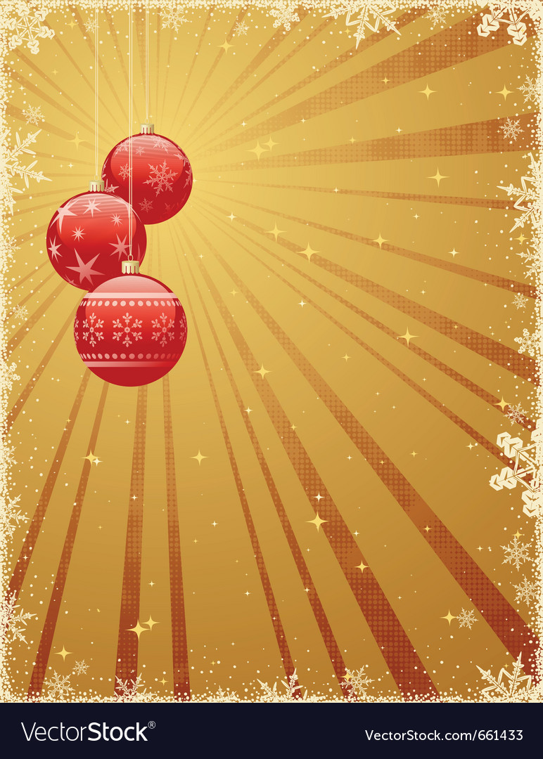 Christmas background with shiny baubles vector | Price: 1 Credit (USD $1)