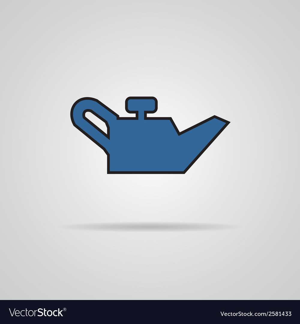 Container of engine oil icon vector | Price: 1 Credit (USD $1)