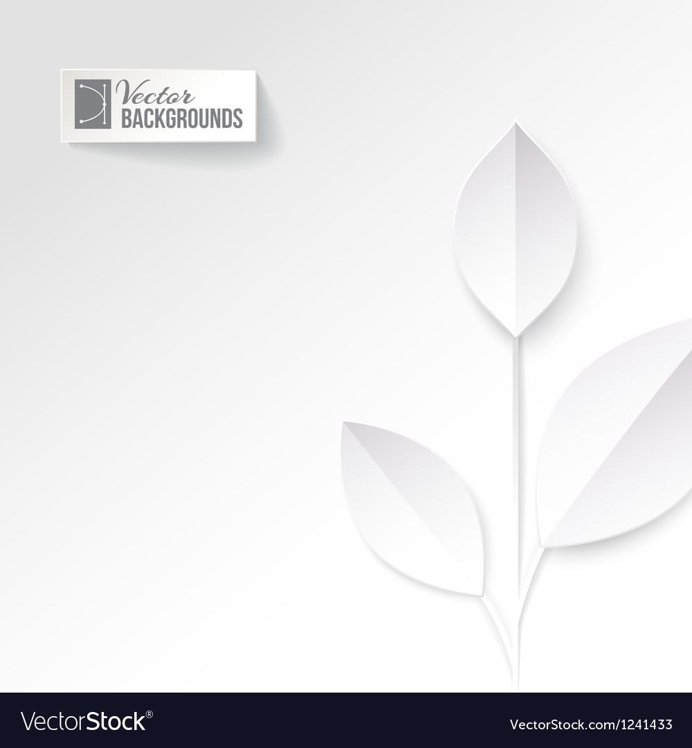 Eco origami leaf vector   Price: 1 Credit (USD $1)