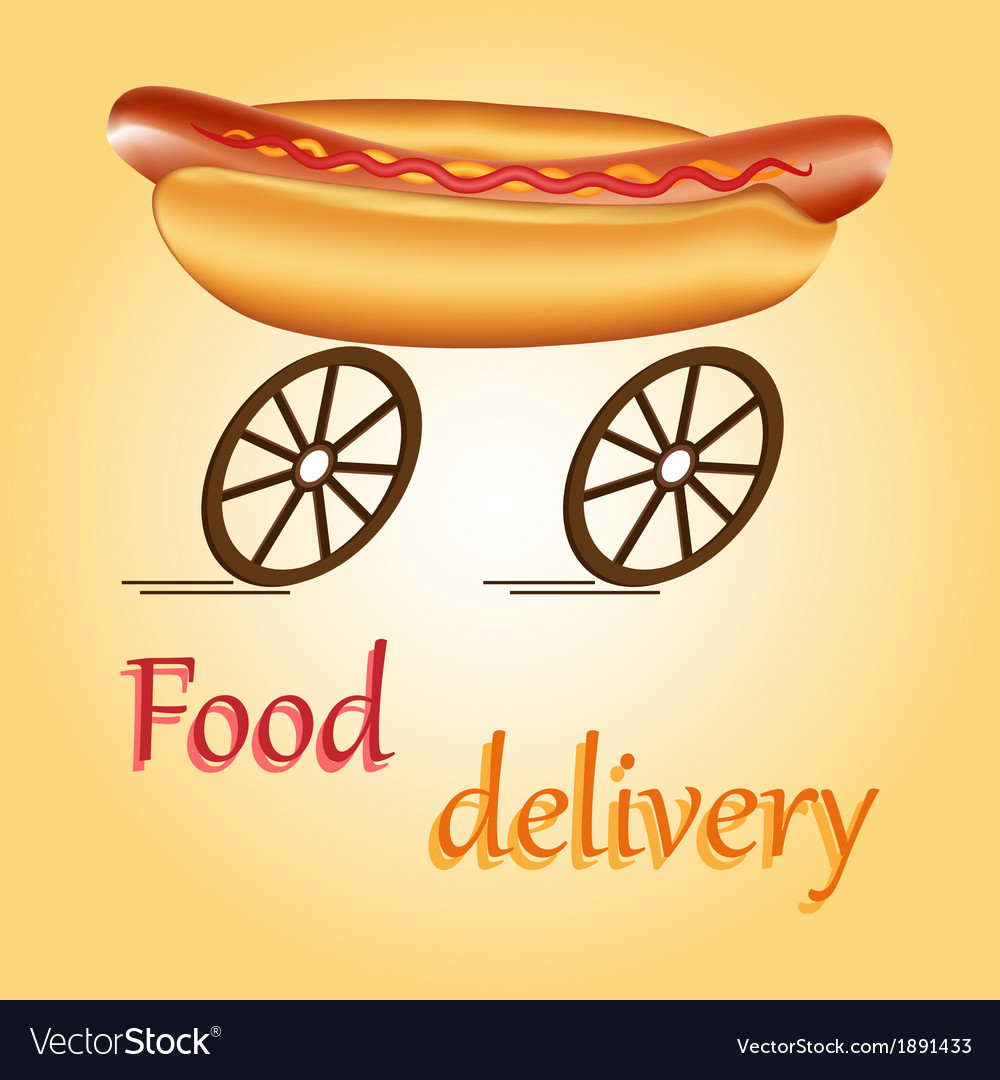 Fast food delivery vector | Price: 1 Credit (USD $1)