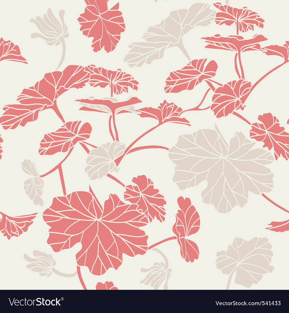 Floral pattern seamless red vector | Price: 1 Credit (USD $1)