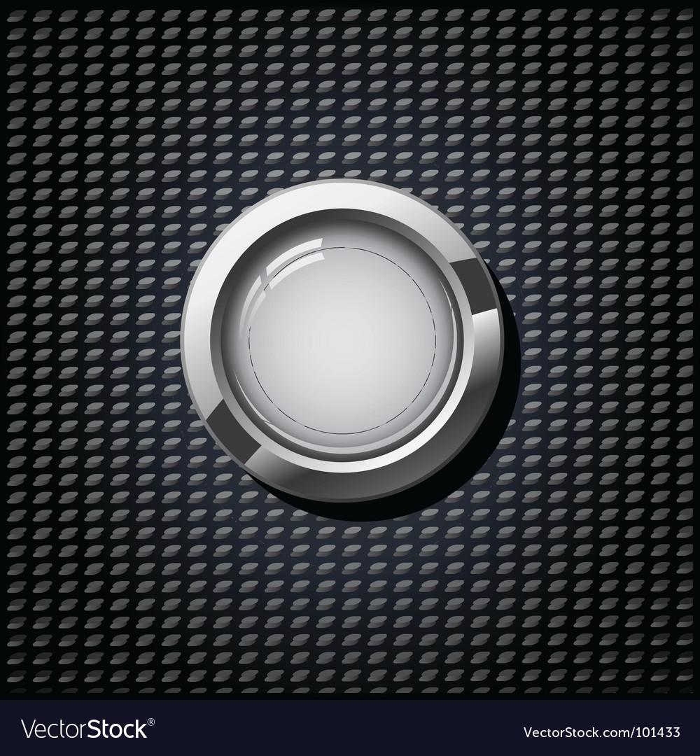Grey button vector