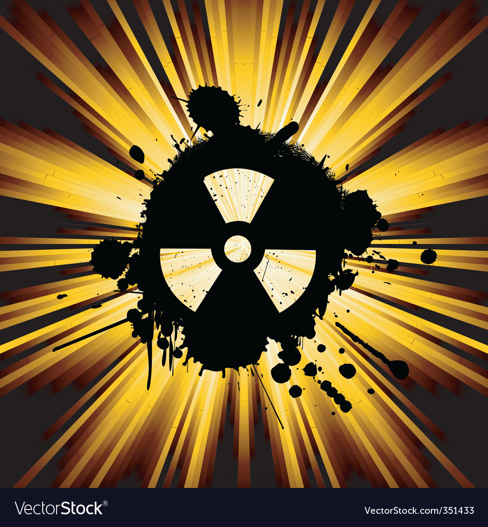 Grunge nuke sign vector | Price: 1 Credit (USD $1)
