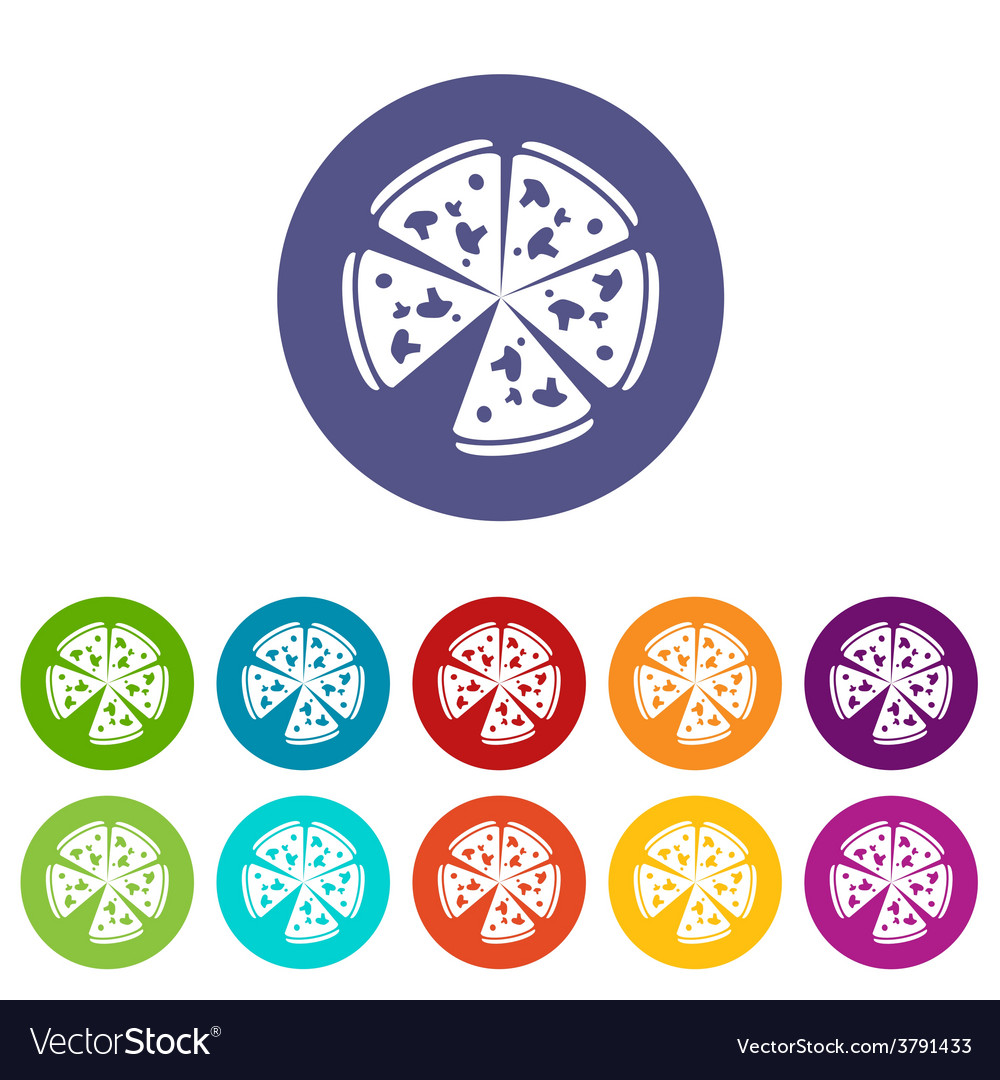 Pizza flat icon vector   Price: 1 Credit (USD $1)