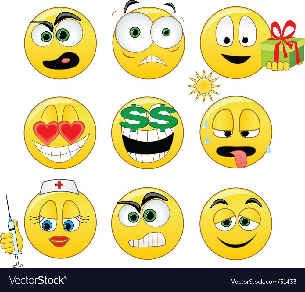 Smileys vector | Price: 1 Credit (USD $1)