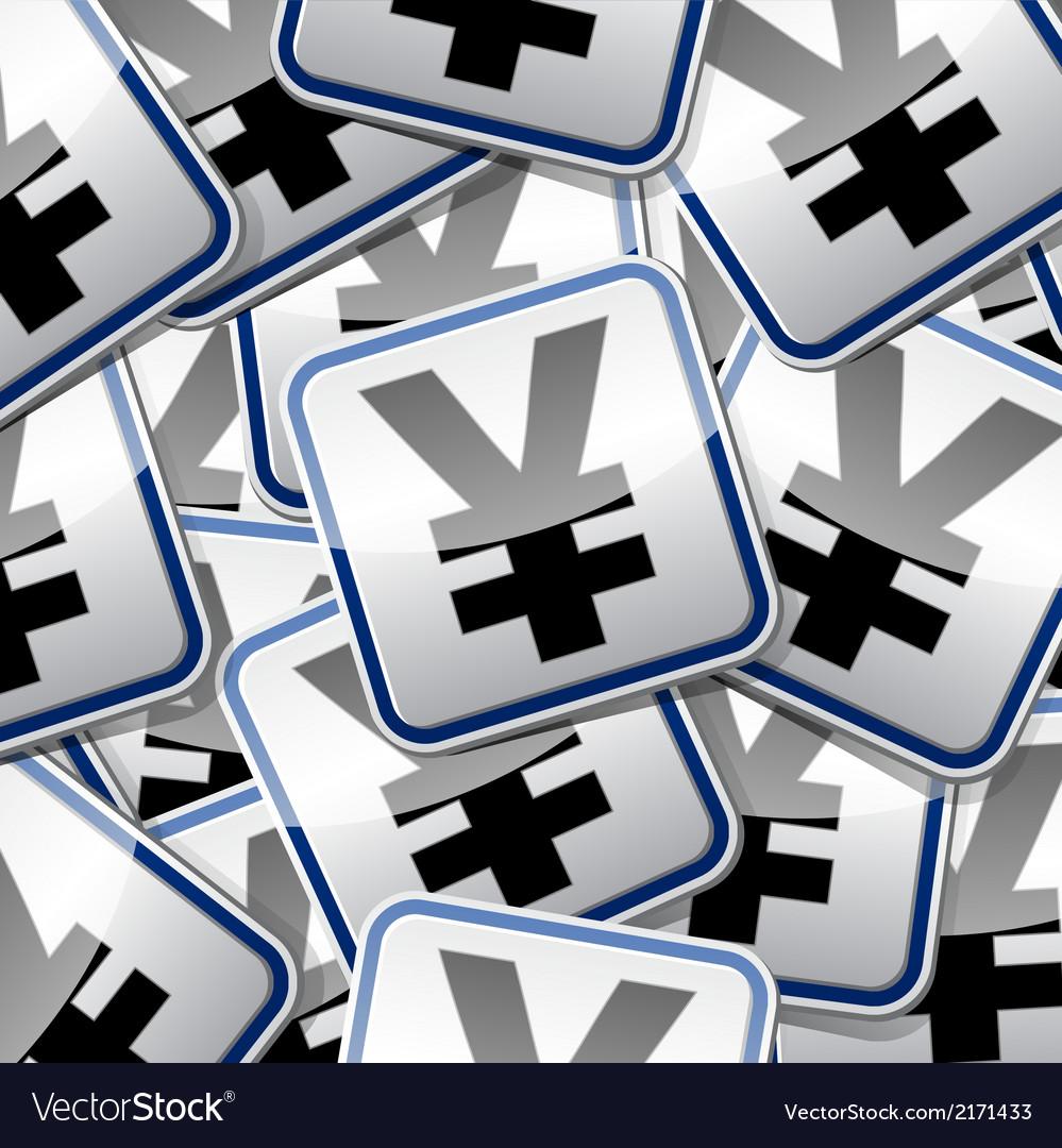 Yen money sticker symbols vector | Price: 1 Credit (USD $1)