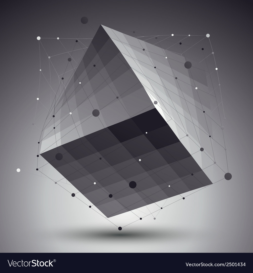 Abstract 3d structure polygonal network pattern vector | Price: 1 Credit (USD $1)