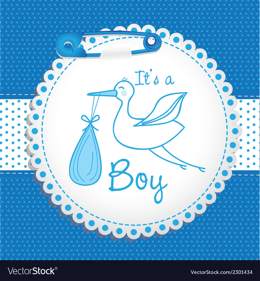 Baby arrival label vector | Price: 1 Credit (USD $1)