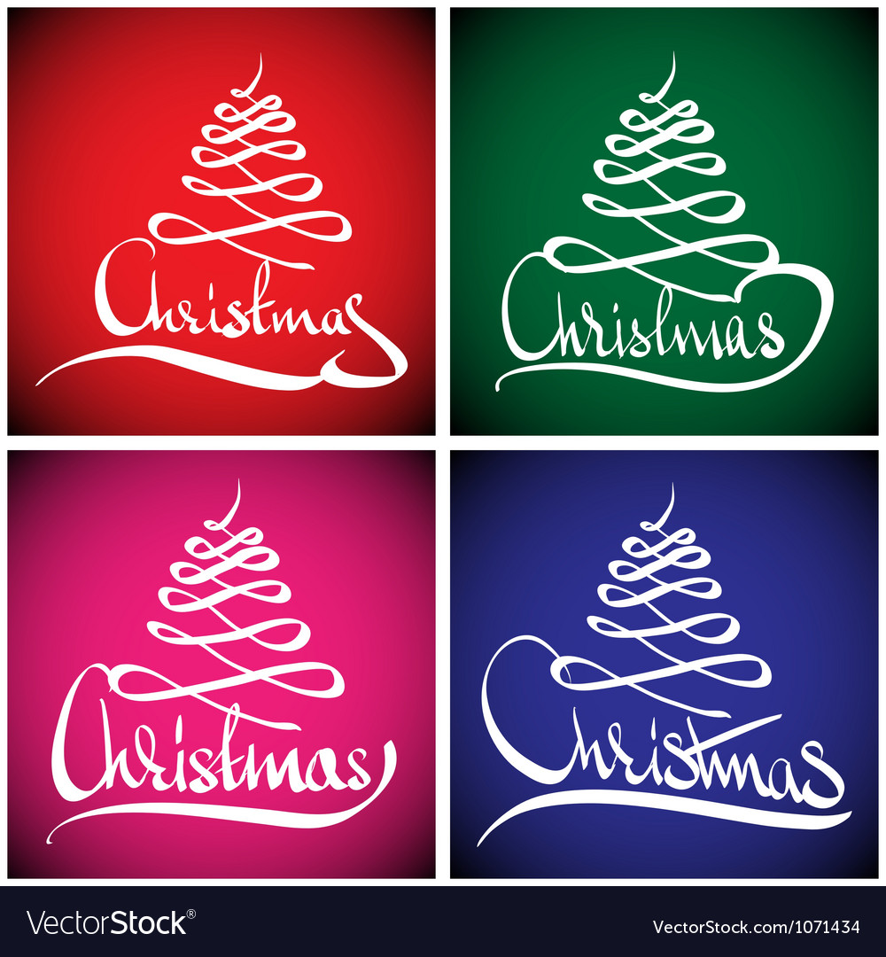 Christmas greeting card hand lettering vector | Price: 1 Credit (USD $1)