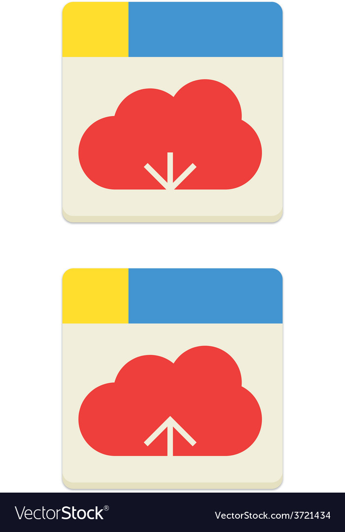 Cloud download and upload icon vector | Price: 1 Credit (USD $1)