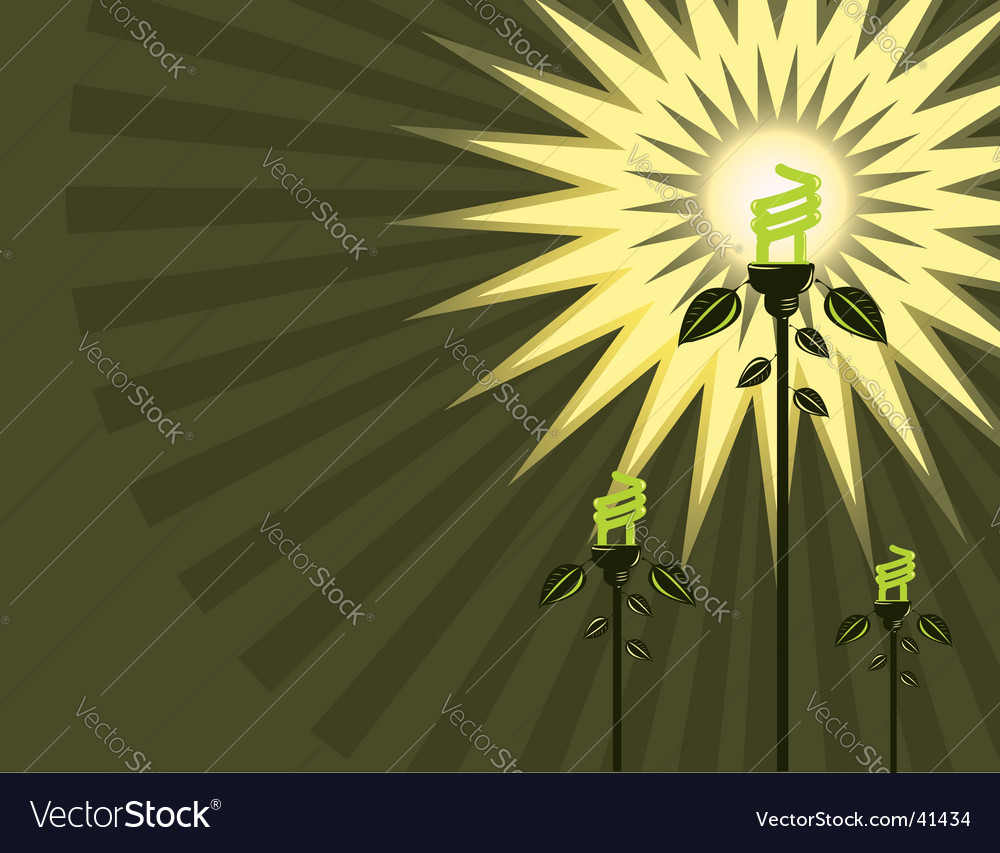 Eco light bulb background vector | Price: 1 Credit (USD $1)