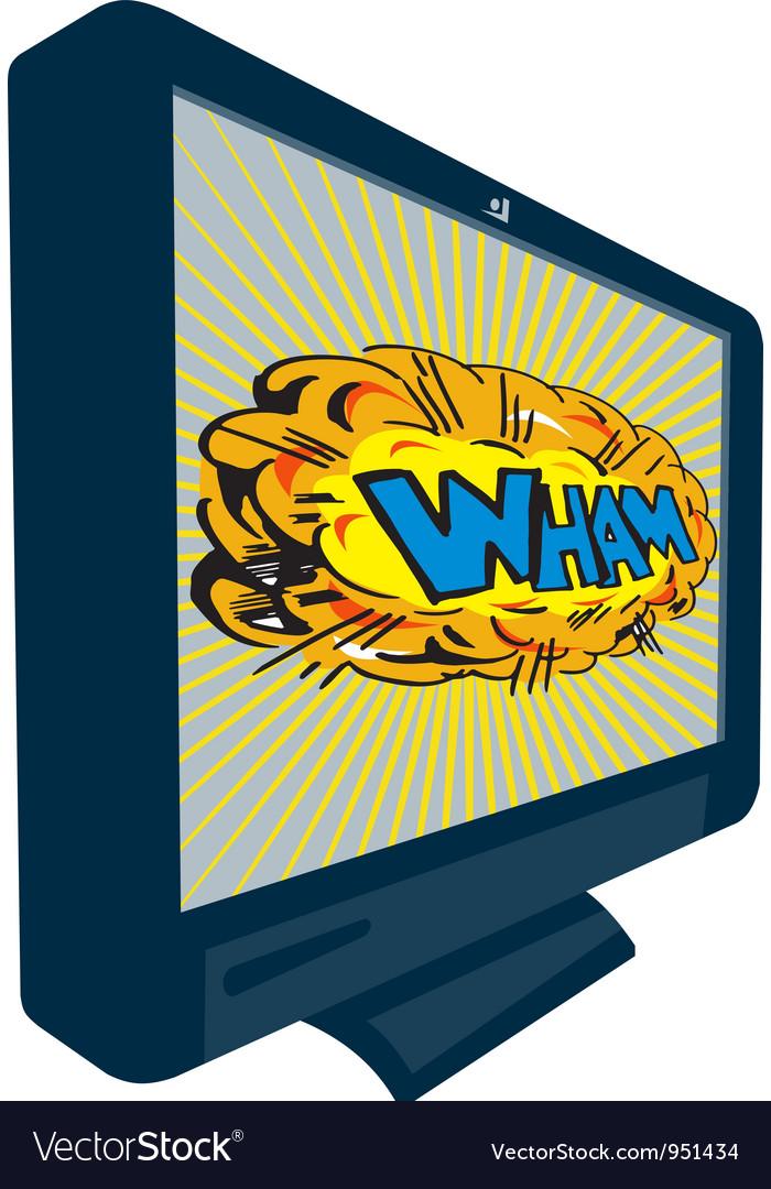 Lcd plasma tv television wham vector | Price: 1 Credit (USD $1)