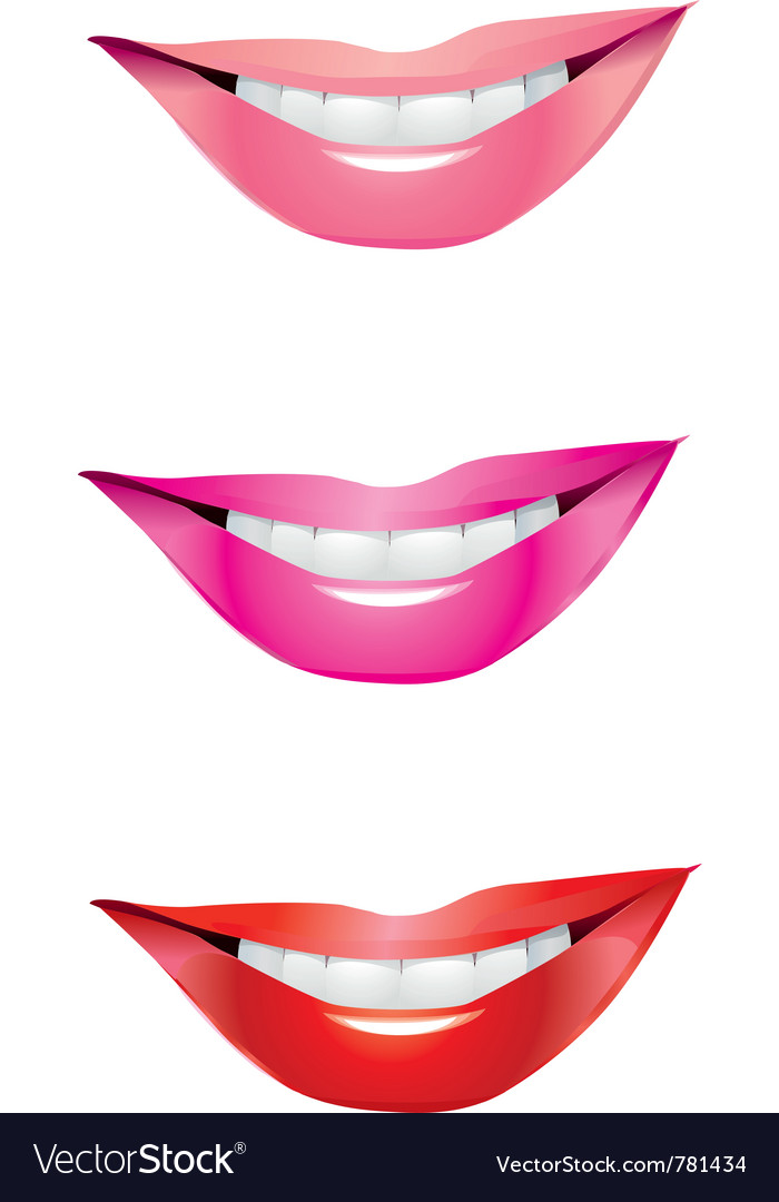 Lips smile vector | Price: 1 Credit (USD $1)