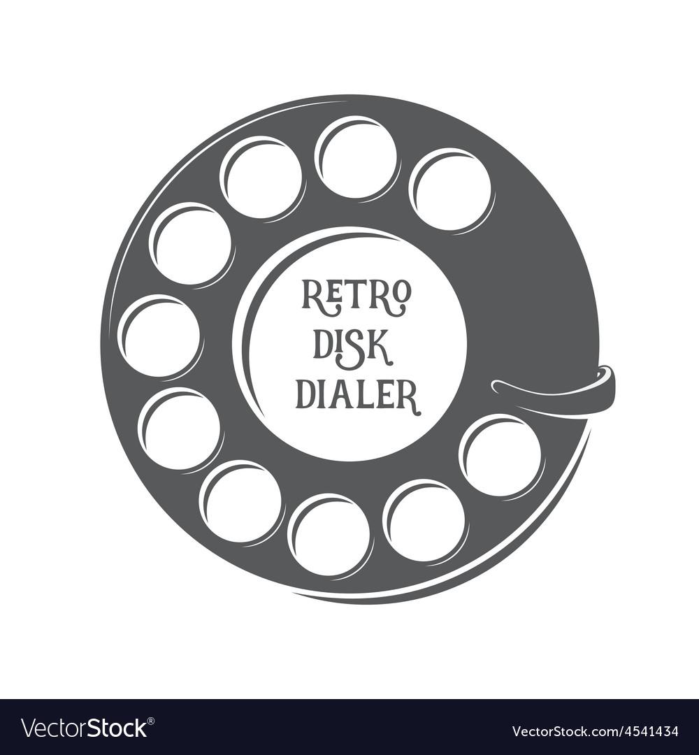 Retro disk dialer vector | Price: 1 Credit (USD $1)