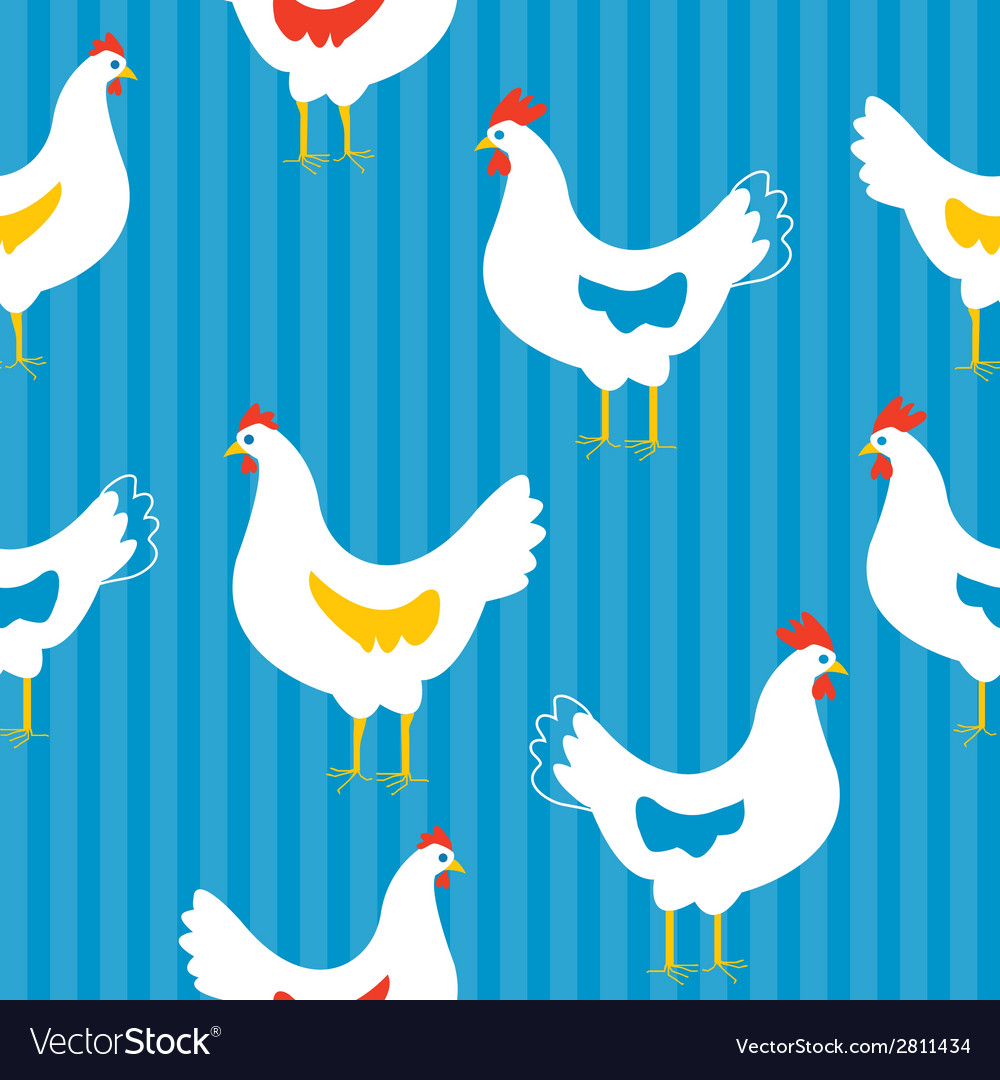 Seamless pattern with hens vector | Price: 1 Credit (USD $1)