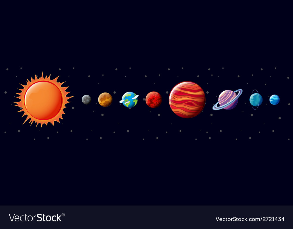 The solar system vector | Price: 1 Credit (USD $1)