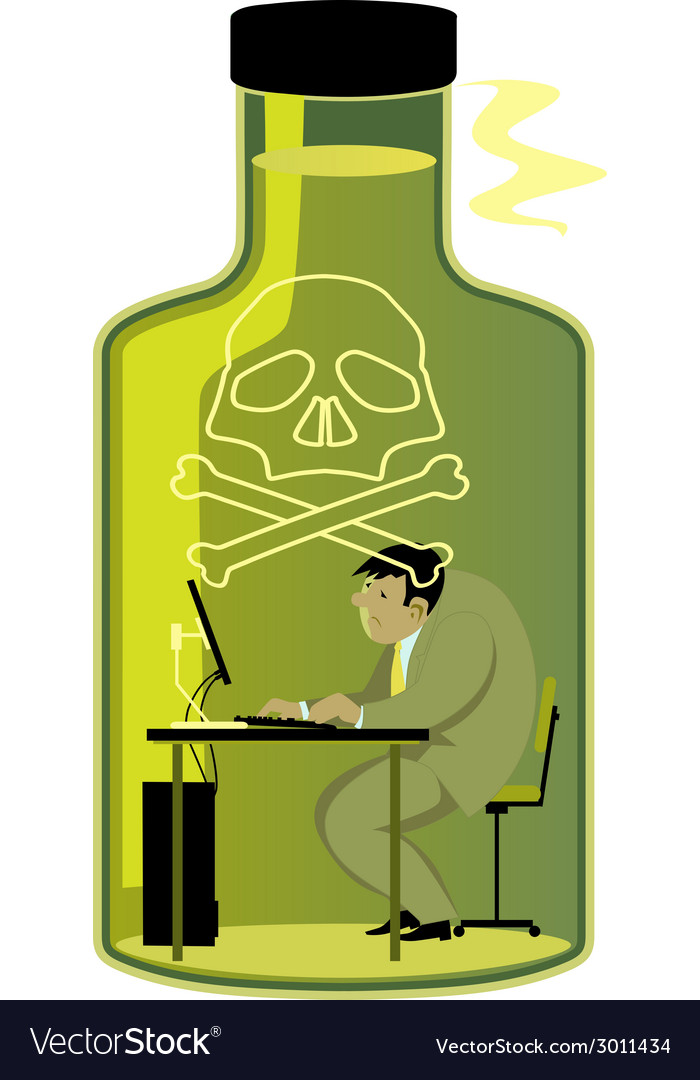Toxic work environment vector | Price: 1 Credit (USD $1)