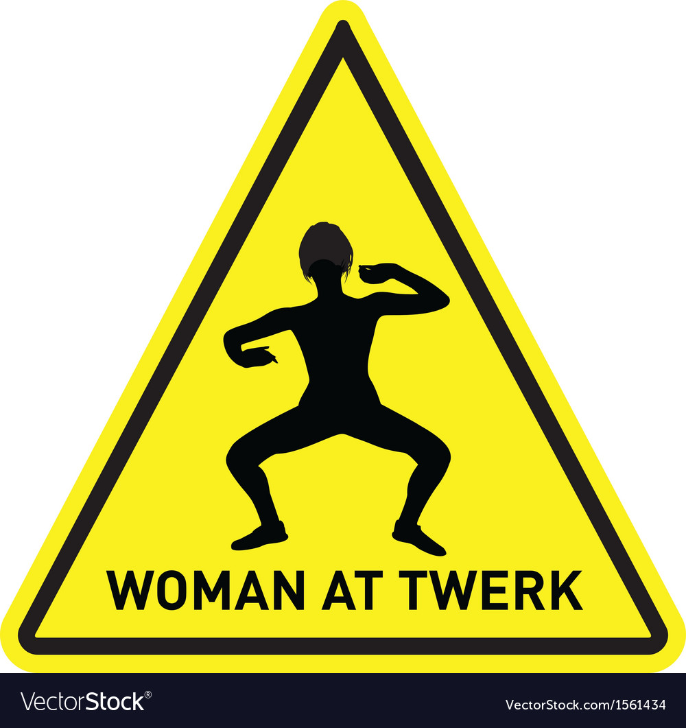 Woman at twerk vector | Price: 1 Credit (USD $1)