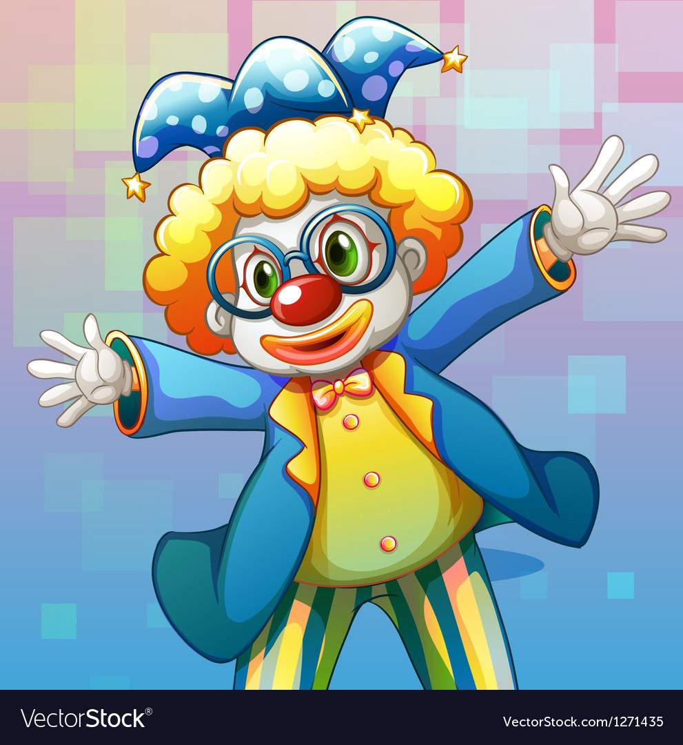 A clown with a colorful costume vector | Price: 1 Credit (USD $1)