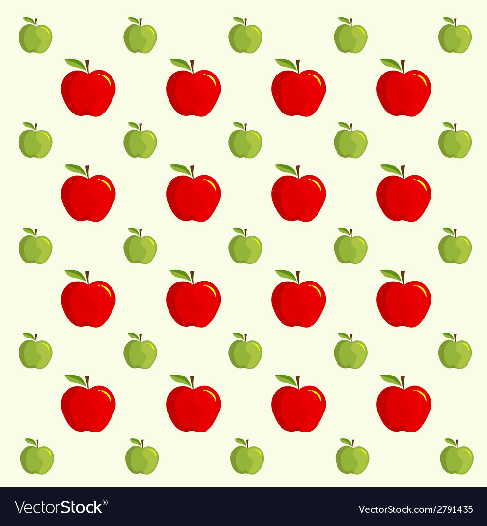 Apple background - pattern vector | Price: 1 Credit (USD $1)