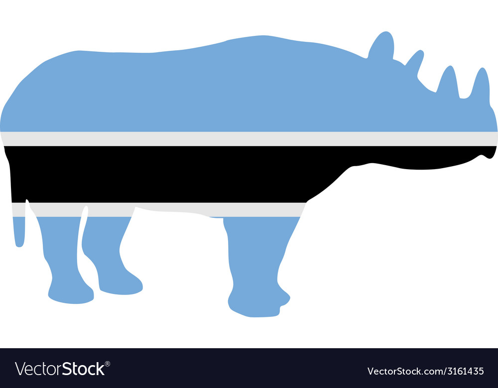 Botswana black rhino vector | Price: 1 Credit (USD $1)
