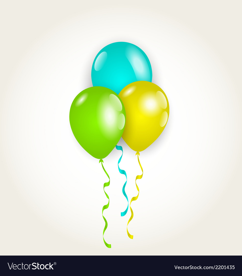 Bunch party balloons for your birthday vector | Price: 1 Credit (USD $1)