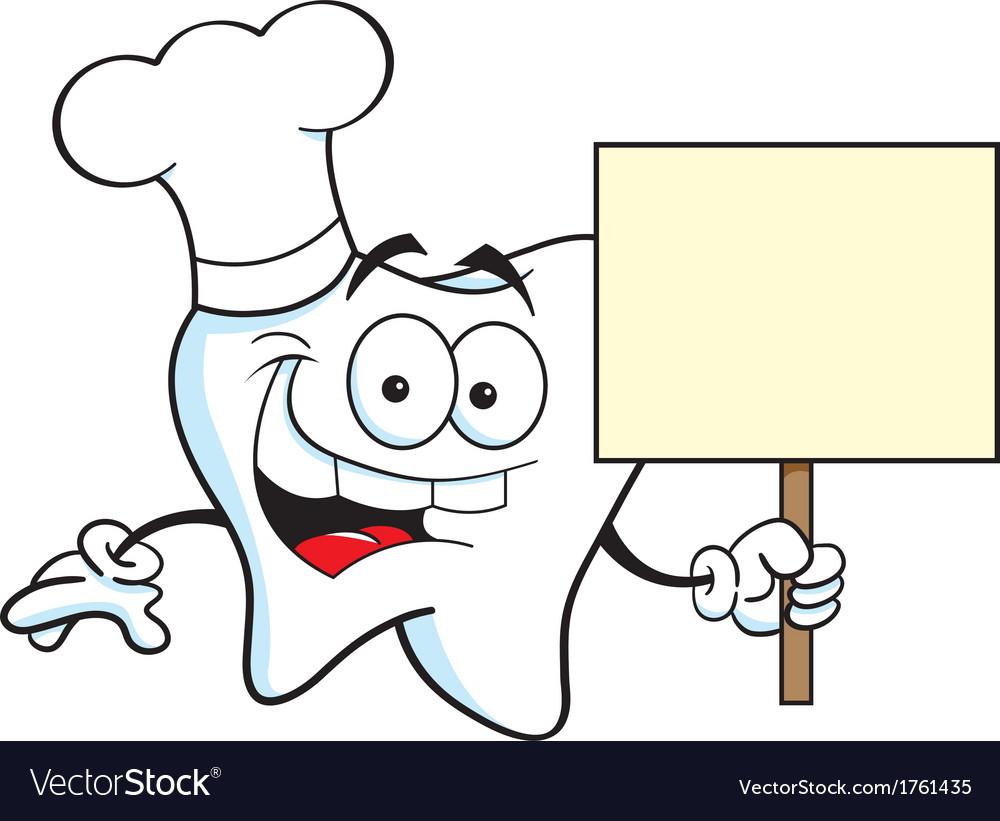 Cartoon chef tooth vector | Price: 1 Credit (USD $1)