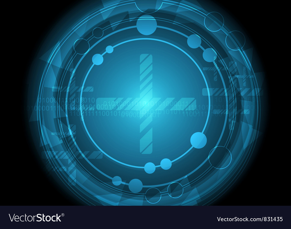 Circle blue abstract background vector | Price: 1 Credit (USD $1)