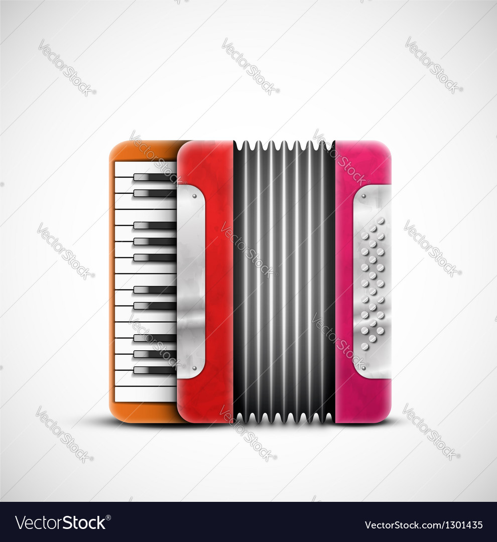 Colorful accordion vector | Price: 3 Credit (USD $3)