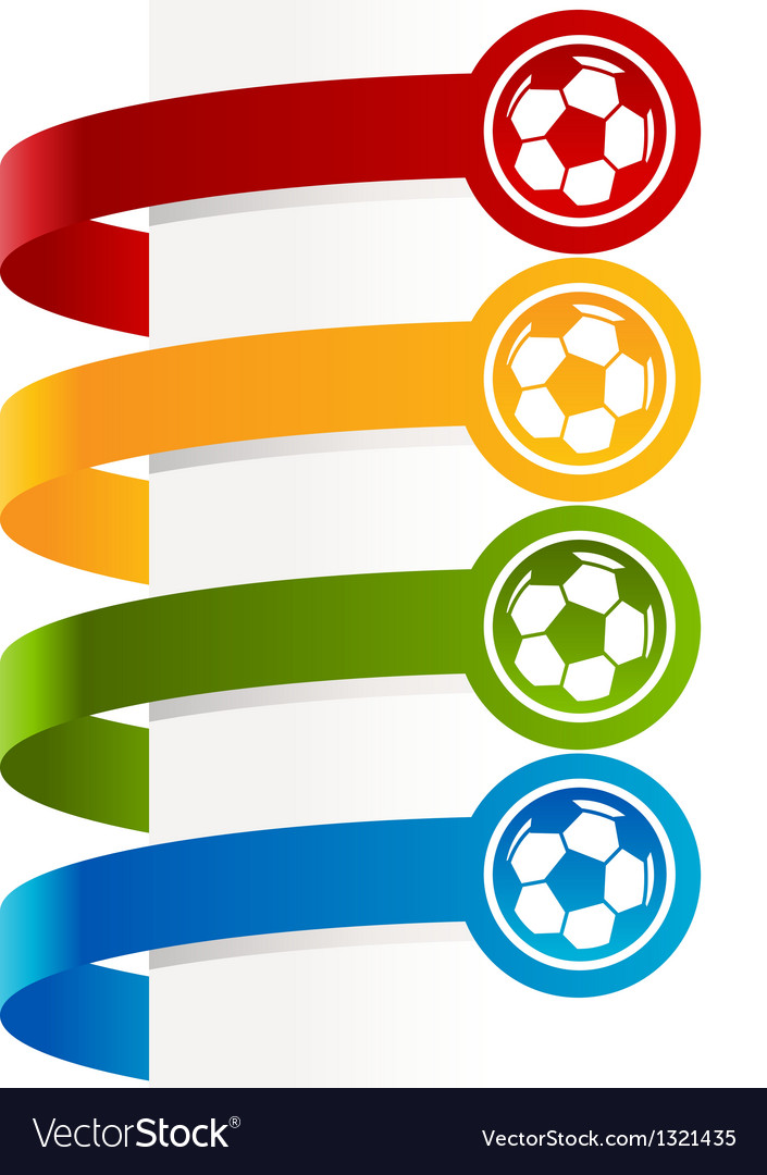 Colorful soccer ball banners vector | Price: 1 Credit (USD $1)