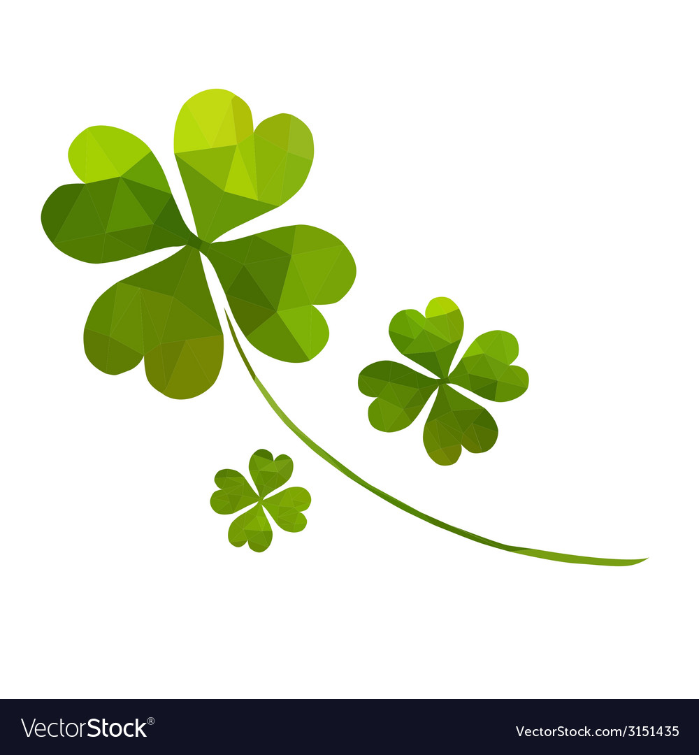 Decorative clover vector | Price: 1 Credit (USD $1)