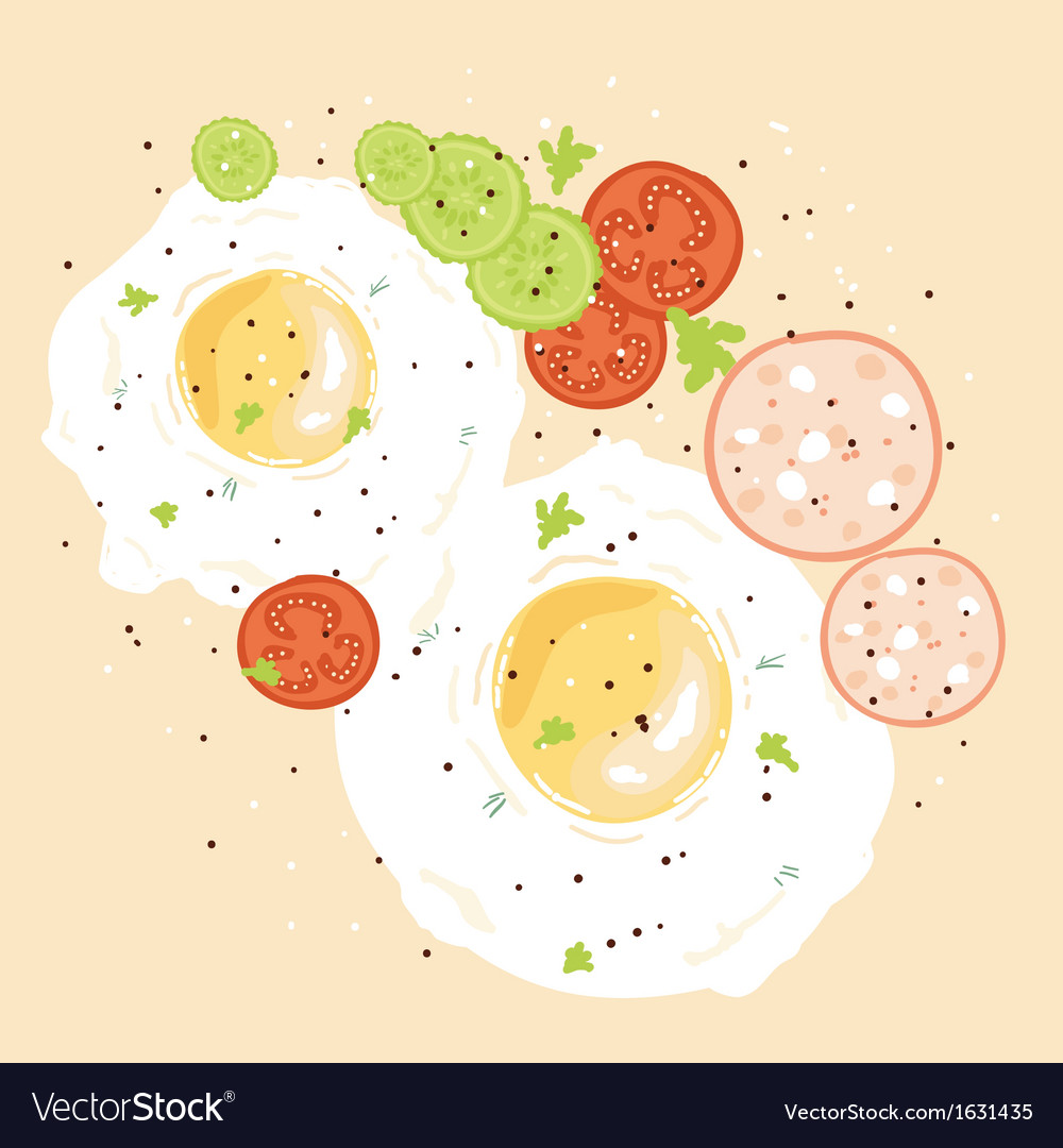 Egg breakfast vector | Price: 1 Credit (USD $1)