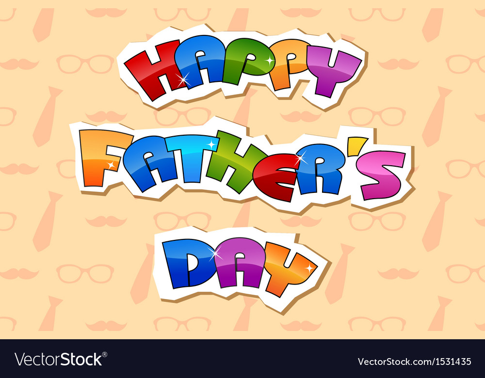 Happy fathers day background vector