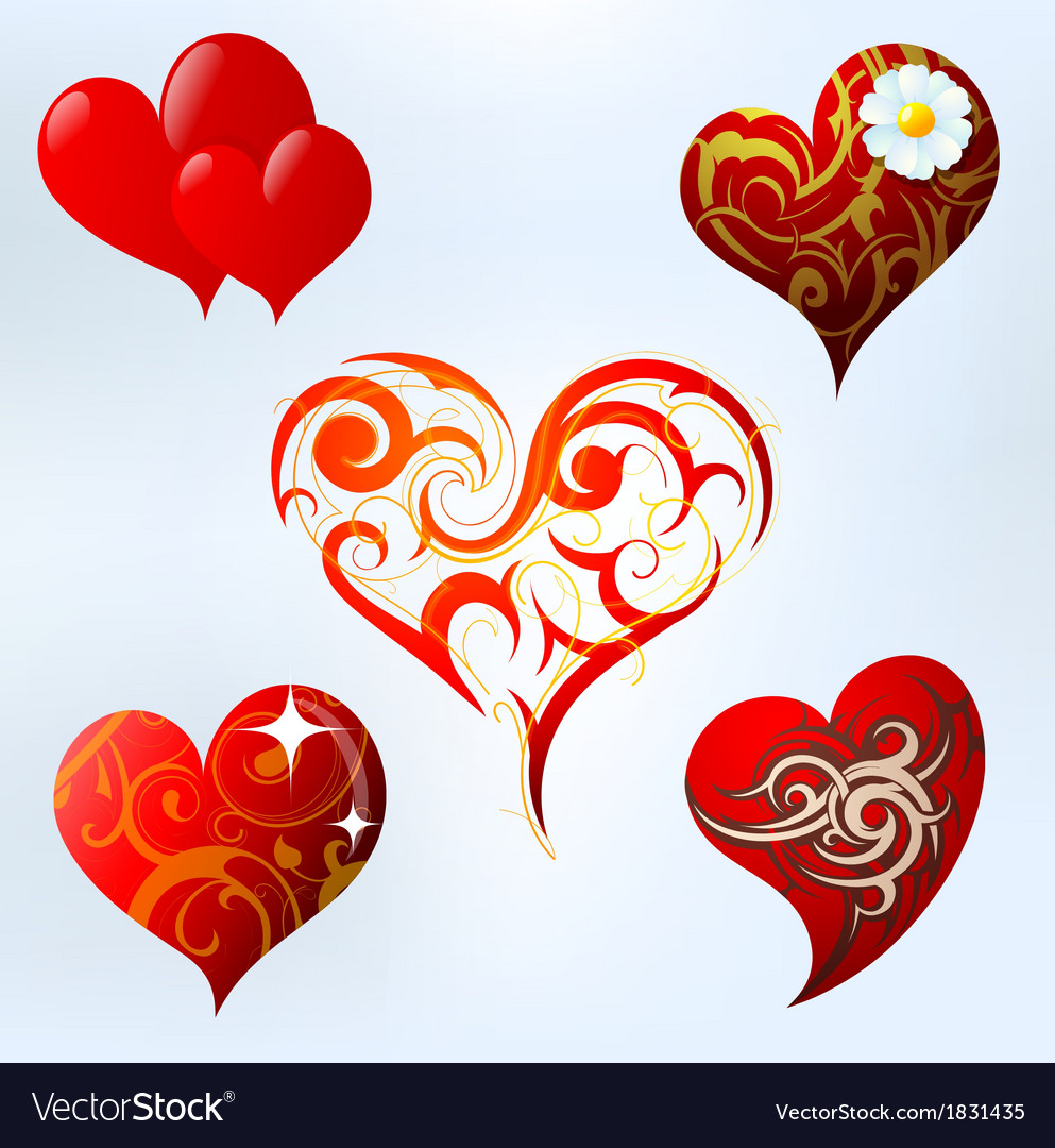 Heart shape set vector | Price: 1 Credit (USD $1)