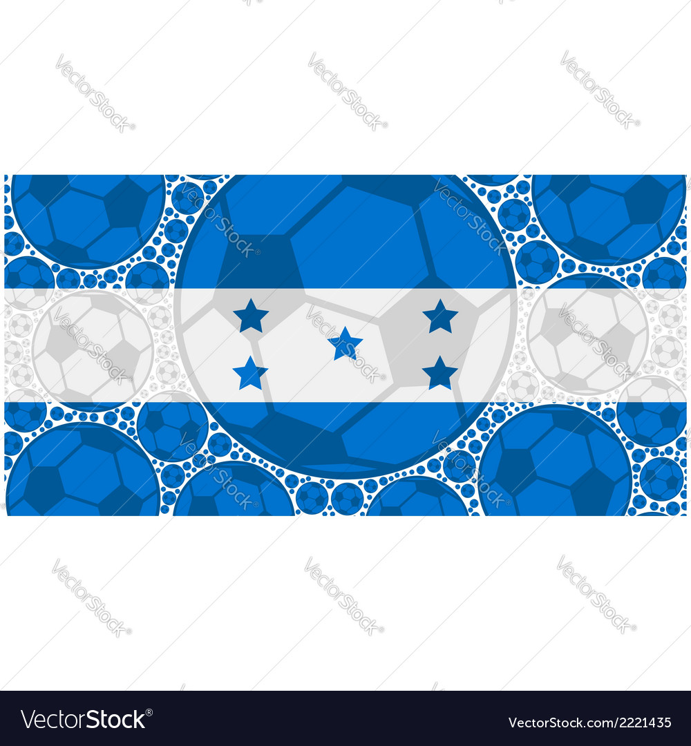Honduras soccer balls vector | Price: 1 Credit (USD $1)