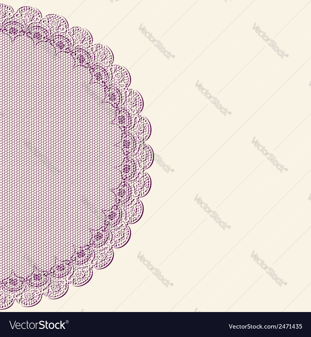 Retro background with purple lacy element vector | Price: 1 Credit (USD $1)